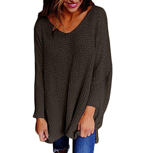 Preisvergleich Produktbild Sweater Damen Casual Langarmshirt Herbst Frühling Pulli Lang Tunika Beiläufig Bluse für Sport von ABsoar