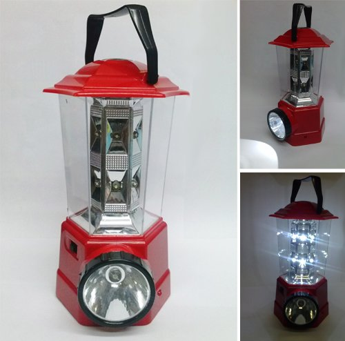Pink Rechargeable Emergency LED Lantern