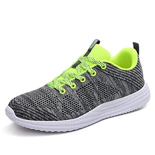 Executando Unisex Calçado Sneakers Casuais Sapatos adultos Desportivo Mulheres Verdes Homens Sapatilhas Cinza Sapatos r4c0nr8q1w