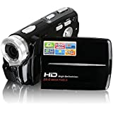 Camcorder Besteker Portable HD MAX 20 Megapixel 1280 * 720P Digital Video Camcorder DV Camera 3 inch TFT LCD 16X Digital Zoom with Micro Holder for Amateurs OR Children