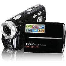 Videocamere, Besteker HD portatile Max 20,0 Mega Pixel 1280 * 720P Digital Video macchina fotografica DV schermo 3,0 pollici TFT LCD zoom digitale 16x con Microspur registrazione per amatori e bambini (Nero)