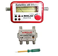Combo -DiSEqC Switch 4x1- SD-417 + Satellite Signal Finder DB Meter + Line Tester