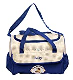 #8: NOVICZ Diaper Bag Multi Compartment Mother Bag for Baby Care with Diaper Changing Mat - Blue color
