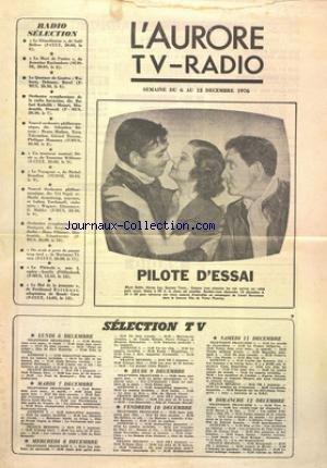 AURORE TV RADIO (L') du 06/12/1976 -...