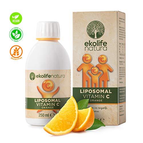 Frei Von Milchprodukten (Vitamin C - Natürliches Liposomal Vitamin C - Hochdosiert C Vitamin - Vegan, Frei von Gluten, Milchprodukten, Zucker, GMO, Soja - von EkoLife Natura)