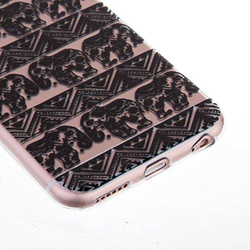 "iPhone 6S Coque,iPhone 6 Bling Case,iPhone 6S Cover - Felfy Ultra Mince Slim Gel TPU Silicone élégant Ultra Thin Bling Plating Case Coque Bumper Cas Housse pour Apple iPhone 6/6S 4.7"" (Losange Violet) éléphant Motif Tribal"
