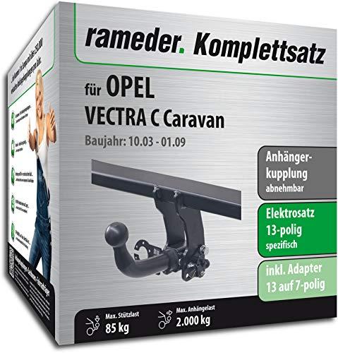 Rameder Komplettsatz, Anhängerkupplung abnehmbar + 13pol Elektrik für OPEL Vectra C Caravan (117029-05057-1)