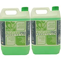 Algiclear Pro The Professional Moss Algae Mould Liverwort Killer - Ready to use 2 x 5 litre - Covers 120 Square Metres. For Roof Tiles, Patio, Decking, Walls, Paving And Outdoor Surfaces.
