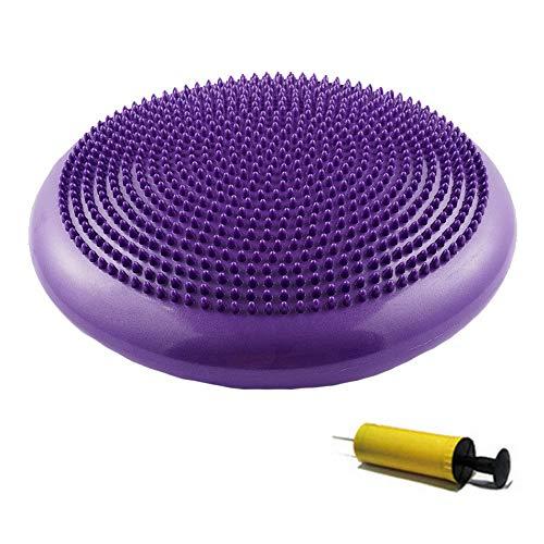 FUYY Gleichgewichtsbrett, Balance Board Holz,aufblasbar Twist Massage Balance Board-Wobble Kissen, Balance Workout Disc-Twist Massage, Fitness Und Bewegung, Inklusive Pumpe,Purple