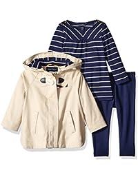 Nautica Baby Girls' Jacket, Shirt and Legging