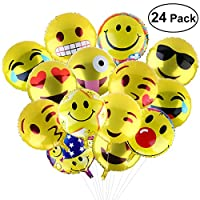 BESTOMZ Party Balloons, 18-Inch Mylar Balloons for Party, Birthday or Holiday Decoration (24pcs)
