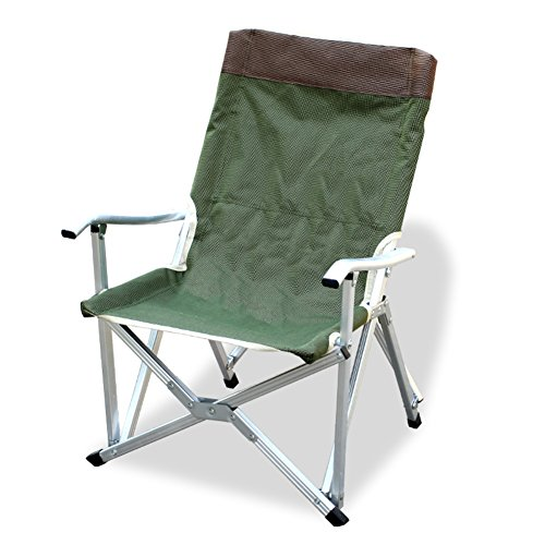 HM&DX Portable Chaises De Camping Pliantes Extérieures Heavy Duty Compact Stable Accoudoir Badminton Sac Chaises Pliantes Pêche De La Plage