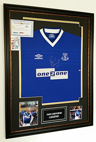 RARE-Paul-Gascoigne-of-Everton-Signed-SHIRT-AFTAL-DEALER-Certificate