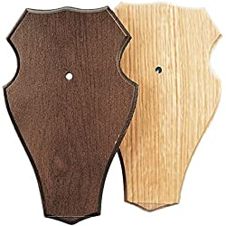 Fritz Muñeco Escudo carteles de madera de roble para Corzo Trofeos Presas placa trofeo–Rótulo caballete (Varios Modelos, Hellbraun mit 1 Kiefernfach, large