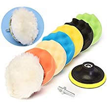 SHINA 9PCS 4 pulg 100mm Esponja Buff pulido almohadilla de pulido Pad del kit del coche Pulidora M10 Tema # 3