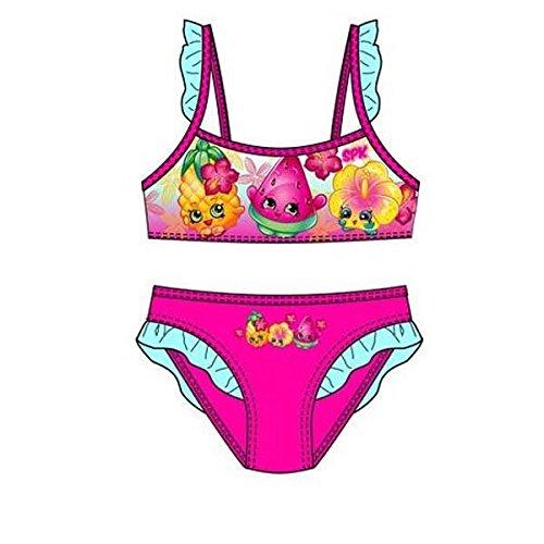 Shopkins Mädchen Schwimmen Kostüm / 2 Stück Bikini. (5 Jahre (110 cm), Fuchsie)