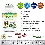 Vitamin B12 365 – 1000 µg – 365 Tabletten – Methylcobalamin – 100% vegan – Leicht Einnahme – Hohe Dosierung 1000 mcg pro Tablette – Vit4ever - 2