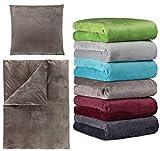 Winter Cashmere Touch Bettwäsche und Spannbettlaken in Verschiedenen Größen und vielen Farben, 180x200 bis 200x200 cm Anthrazit