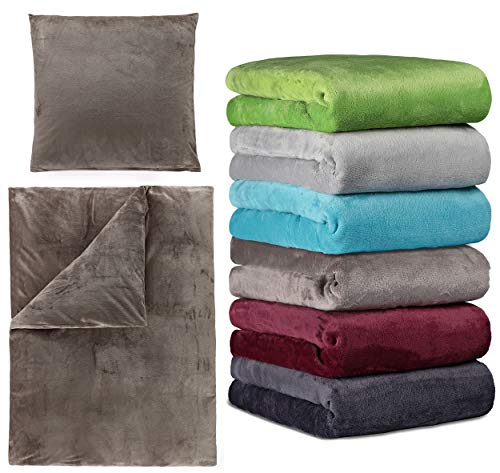 Winter Cashmere Touch Bettwäsche und Spannbettlaken in Verschiedenen Größen und vielen Farben, 140x200 bis 160x200 cm Petrol