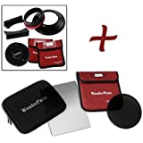 """Fotodiox FreeArc XL ND16 Kit de Support de Filtre de Base/Bouchon/Support WonderPana 80 8""""/21 cm/Filtre 0,6 Bord Doux Grad ND/186 mm ND16 pour Objectif Canon EF 11-24 mm f/4L USM Noir"""