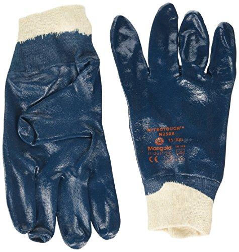 Ansell Nitrotough N250B Gants oléofuges, protection mécanique, Bleu, Taille 11 (Sachet de 12 paires)
