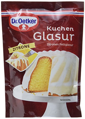 Dr. Oetker Kuchen Glasur Zitrone, 11er Pack (11 x 125 g)