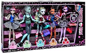 Monster High Dance Class 5 Pack - Rochelle Goyle, Gil Webber, Robecca Steam, Lagoona Blue and Operetta - Exclusiv 2013 -