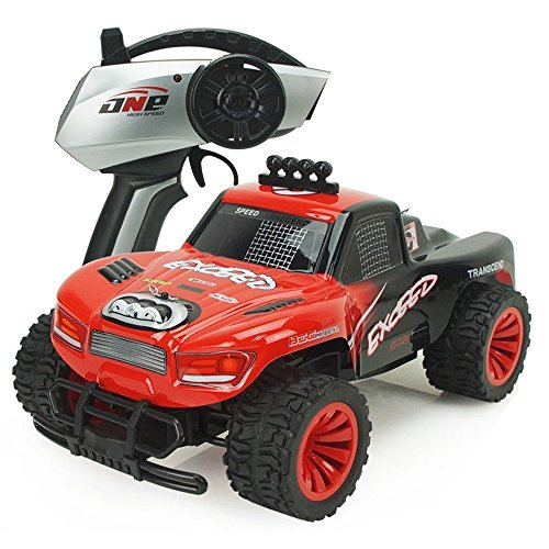 POBD RC Automobile 1/16 2.4GHz Distant Management Automobile Off-Highway Truck 2WD Excessive Velocity Rock Crawler Electrical Racing Buggy with Gentle Critiques
