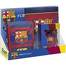 Set De Regalo Incluye Bandolera Mochila + Reloj Despertador + Carpeta Futbol Club Barcelona