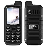 """Vkworld Stone V3 plus Mobile Phone 2.4"""" IP54 Waterproof Dustproof Dropproof Sim-Free Cellphone with Big Button, Strong Signal Anti-Low Temperature 3000mAh Long Standby Dual SIM GSM(Black)"""