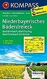 Niederbayerisches Bäderdreieck: Wanderkarte mit Aktiv Guide und Radwegen. GPS-genau.1:25000 (KOMPASS-Wanderkarten, Band 200)