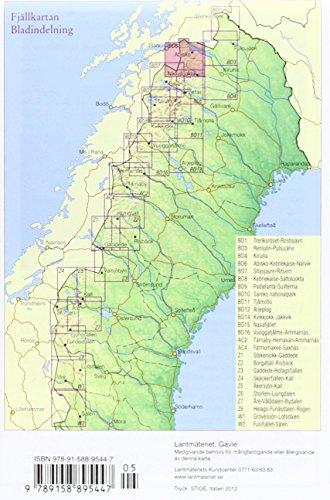 Fjällkartan  - amtliche Karte Schweden BD 6: Alle Infos bei Amazon