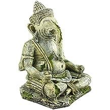 Befaith Acuario Decoración de tanques de pescado Elefante Cabeza Buda Simulación de los Dioses antiguos NO.1 11.5cm*10cm*16.5cm