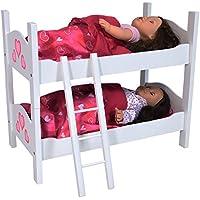 small Foot 2871 Etagenbett Pink Holz passender Karo Bettwäsche Matratzen B-WARE Babypuppen & Zubehör Puppen & Zubehör