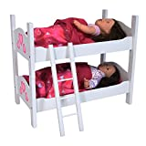 The New York Doll Collection Stockbett/Etagenbett für 45 cm Puppen-Zwillinge, weiß