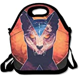 Neoprene Lunch Tote - Bastet - Cat Goddess Waterproof Reusable Cooler Bag For Men Women Adults Kids Toddler Nurses With Adjustable Shoulder Strap - Best Travel Bag