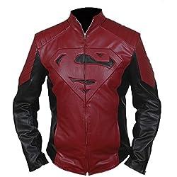 F&H Boy's Superman Genuine Leather Jacket M Multi