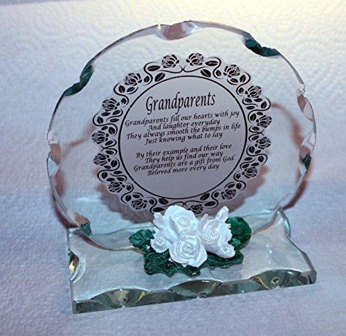 Großeltern rund Plaque Geschenk Beautiful Cut Glas Gedicht Plaque (Valentinstag Freundschaft Karten)