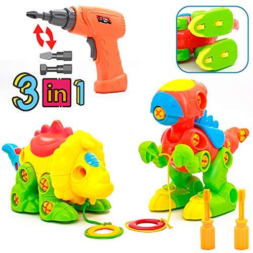 Akokie Dinosaures Jouet Enfant Jeux de Construction avec Perceuse...