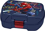 ALMACENESADAN 2005, Graffiti rettangolari rettangolari dello Spiderman del creatore del panino; Prodotto di plastica; BPA Gratuito; Dimensioni 18x14x7 cm