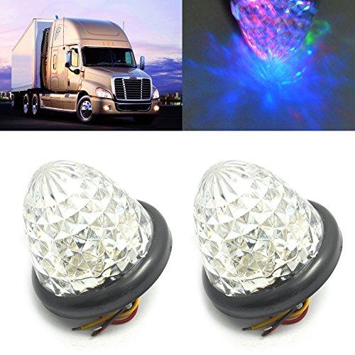 Preisvergleich Produktbild Hrph 2pcs Kristall-Blitz-Mehrfarben-bunter 16 LED-Auto-Seitenmarkierungs-heller Bienenstock-Birnen-LKW