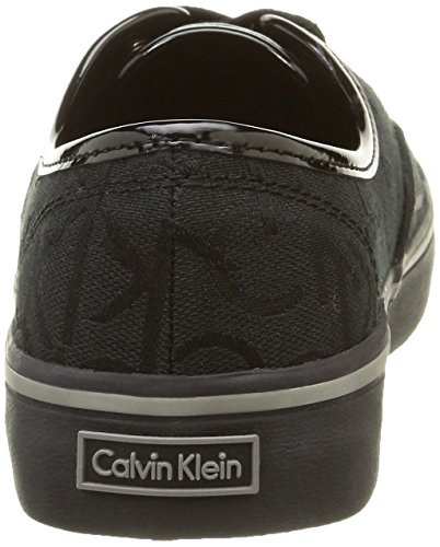 Calvin Klein Jeans Parker, Baskets Basses Femme Noir (Bbk)
