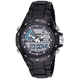 SKMEI Analog-Digital Dial Men's Watch-AD1016 (BLACK)