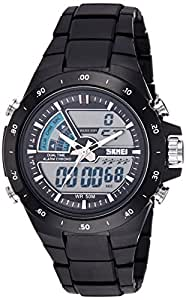 SKMEI Analog-Digital Black Dial Men's Watch- AD1016