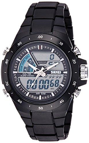 SKMEI Analog-Digital Dial Men\'s Watch-AD1016 (BLACK)