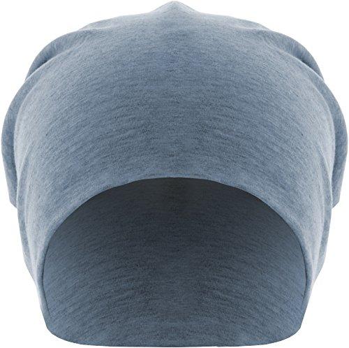 MSTRDS Unisex Erwachsene Jersey Beanie Strickmützen,per pack Blau (heather Indigo 3827),One Size (one size) (Großhandel Stirnbänder Und Accessoires)