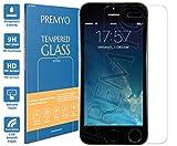 PREMYO Vetro Temperato per Apple iPhone 5s Pellicola Protettiva per iPhone 5 Protezione Schermo Compatibile con iPhone 5s Durezza 9H Bordi 2,5D Anti-Graffi Bolle Impronte