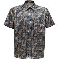 Camiseta para hombre de manga corta de seda tailandesa estampado Paisley marrón, marrón, ...