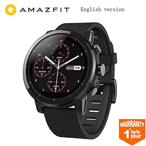 Reloj inteligente, amazfit bip juventud edición GLONASS GPS Heart Rate Sport Fitness Tracker reloj 1.28'Protector de 32G de peso IP68impermeable 45day espera