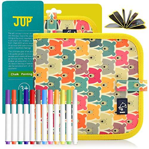 Giocattolo riutilizzabile lavabile per disegnare graffiti libro portatile stoffa per bambini senza gesso libro magico per bambini con lavagna per